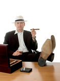 Enjoying a cigar and whiskey Stock Photography