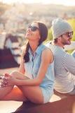 Enjoying closeness. Stock Images