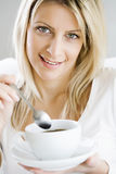 Enjoying coffee Royalty Free Stock Photo