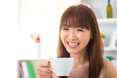 Enjoying coffee at home Royalty Free Stock Image