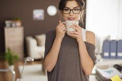 Enjoying coffee Royalty Free Stock Photos