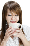 Enjoying cup of coffee Royalty Free Stock Image