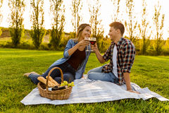 Enjoying the day with a  picnic Royalty Free Stock Photo