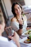 Enjoying Dinner Stock Image
