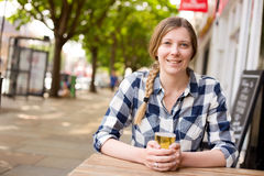 Enjoying a drink Royalty Free Stock Image