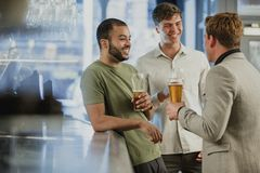 Enjoying Drinks After work Royalty Free Stock Photo