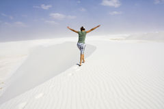 Enjoying dunes Stock Photography