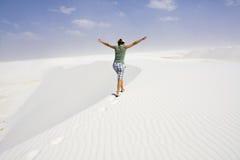 Enjoying dunes. White Sand Dunes National Stock Photography