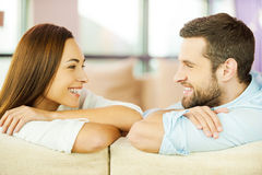 Enjoying each other. Royalty Free Stock Photography
