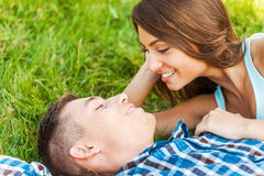 Enjoying each other. Royalty Free Stock Photo