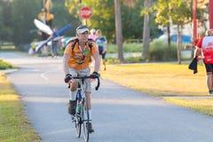 Enjoying an early morning bike ride. royalty free stock image