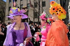 Enjoying the Easter Bonnet Parade Royalty Free Stock Photography