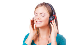 Enjoying an excellent sounds! Stock Photos