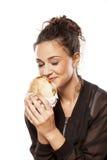 Enjoying fast food Stock Photography