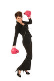 Enjoying fighting in business Stock Image