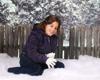 Enjoying the First Snow Royalty Free Stock Image