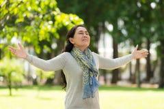 Enjoying fresh air Stock Images