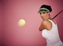 Enjoying the game of tennis. Royalty Free Stock Photo