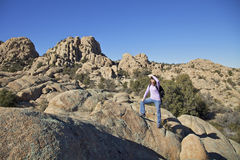 Enjoying the Granite Dells Royalty Free Stock Photography