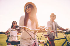 Enjoying a great summer day. Royalty Free Stock Photography