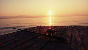 Morning fishing in Greece Corfu royalty free stock photo