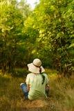 Enjoying green forest Stock Image