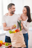 Enjoying happy and healthy life together. Stock Photos
