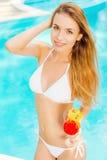Enjoying her leisure summer days. Stock Photos