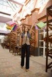 Enjoying her shopping Royalty Free Stock Image