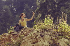 Enjoying a hike Royalty Free Stock Images