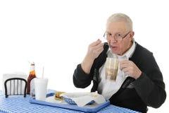 Enjoying His Fast Food Royalty Free Stock Image