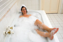 Enjoying a hot bath Stock Photography