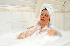 Enjoying a hot bath Royalty Free Stock Photography