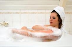 Enjoying a hot bath Royalty Free Stock Photo