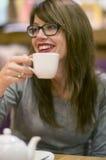 Enjoying a hot drink Stock Photo