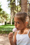 Enjoying ice-cream Royalty Free Stock Photography
