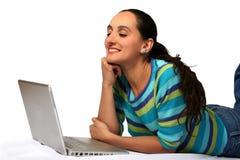 enjoying internet Στοκ Φωτογραφία
