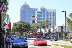 Enjoying Las Olas Boulevard Stock Photo