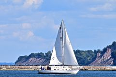 Enjoying the last days of summer on Sodus Point Beach in New York Stock Photos