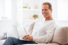 Enjoying leisure time at home. Stock Photography