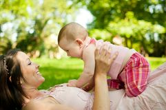 Enjoying life - happy mother with child Stock Photo