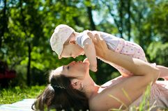Enjoying life - happy mother with child Royalty Free Stock Photo
