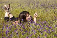 Enjoying life in the spring Royalty Free Stock Photos