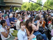 Enjoying the Living Earth Festival Stock Photo
