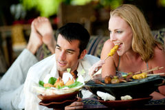 Enjoying Lunch Royalty Free Stock Image