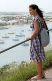 Enjoying Marigot View Stock Photo