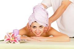 Enjoying The Massage Royalty Free Stock Photography