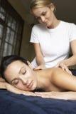 enjoying massage woman young Στοκ Εικόνες