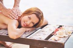 Enjoying massage Stock Image