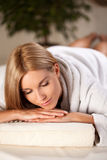 Enjoying the moment in spa room Stock Photography